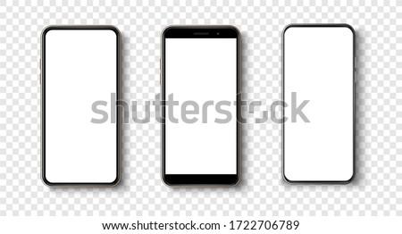 黒 · スマートフォン · 白 · 画面 · 高い · 詳しい - ストックフォト © Said