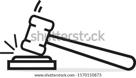 судья аукционе стиль линейный икона фон Сток-фото © kyryloff