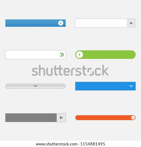 Expand the list. Interface template. Roll full list. Content view on web site. Stock photo © AisberG
