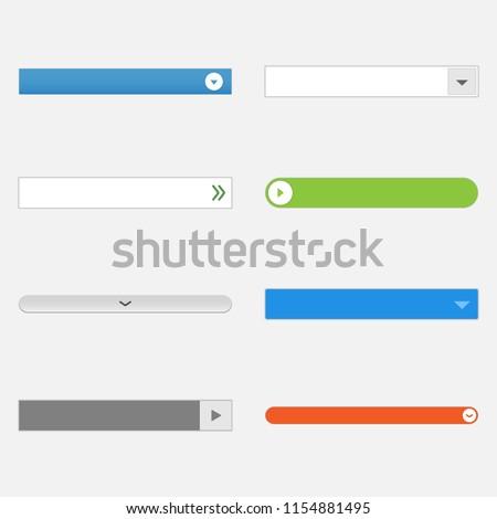 lijst · interface · sjabloon · rollen · vol · inhoud - stockfoto © AisberG