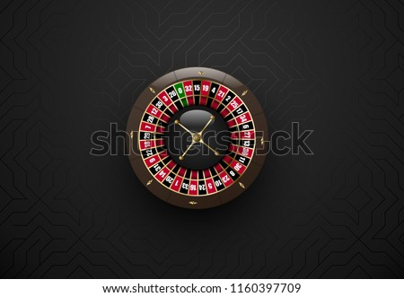 Vector zwarte casino gokken roulettewiel donkere Stockfoto © Iaroslava