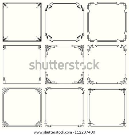 Decorative border  Stock photo © lirch
