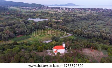 Quadro pequeno capela húngaro aldeia Foto stock © digoarpi