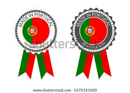 Modern vector Made in Portugal label isolated on white background, simple sticker with Portuguese co Stock photo © kurkalukas