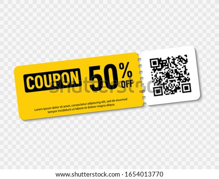 Promo code, coupon code. Flat vector set of tickets design illustration on white background. stock photo © Natali_Brill