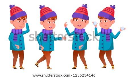 少年 ベクトル 小学校 冬 休日 ストックフォト © pikepicture