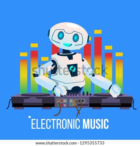 Robot parti oynama müzik konsol gece klübü Stok fotoğraf © pikepicture