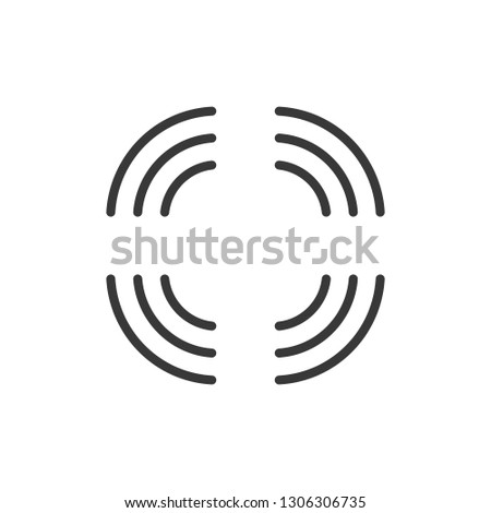 wifi connection signal in every direction strong internet coverage vector illustration isolated on stock photo © kyryloff