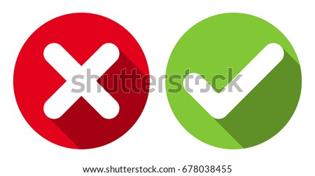 Flat icon of green check mark or tick for ok or accept concept Stock photo © ussr