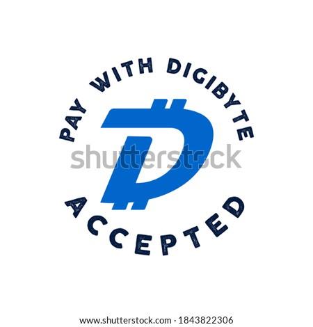 Logo digitális nyereség illetmény szöveg embléma Stock fotó © JeksonGraphics