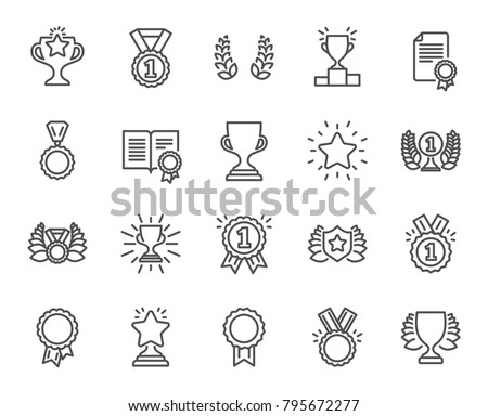 Championship Cup Vector. Champion Prize. Winner Icon. Sport Reward. Victory Goblet. Number One. Firs Stock photo © pikepicture