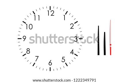 Clock face blank set isolated on white background. Vector watch design. Vintage roman numeral clock  Stock photo © Iaroslava