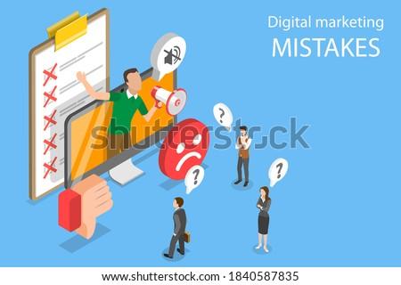 Izometrikus vektor digitális marketing költségvetés seo Stock fotó © TarikVision
