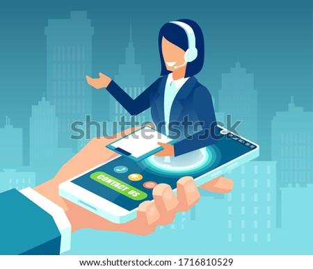 顧客サービス 女性 代表 アイソメトリック 3次元の図 ヘッド ストックフォト © RAStudio