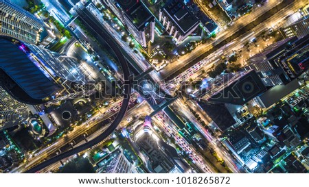 A bird's eye view, aerial panoramic view from drone to the Kharkivskiy district of Kiev, Ukraine wit Stock photo © artjazz
