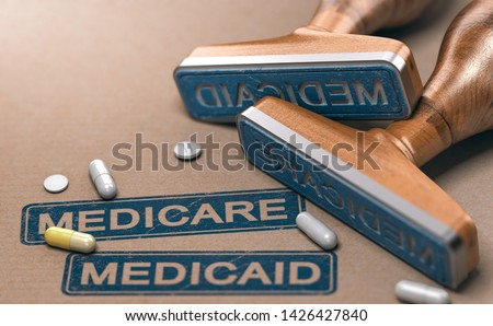 Medicare and Medicaid, National Health Insurance Program In The  Stock photo © olivier_le_moal