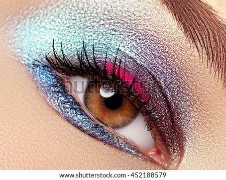 радуга · глаза · женщины · Iris - Сток-фото © serdechny