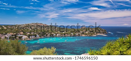 Panoramic image coastline of Santa Ponsa town in the south-west  Stock photo © amok
