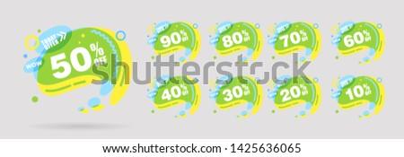 Linear groß Verkauf Kreis Aufkleber Plakat Stock foto © kyryloff
