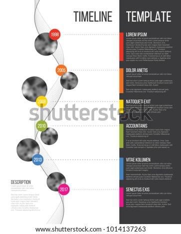 Vektor Unternehmen Meilensteine Timeline vertikalen Stock foto © orson