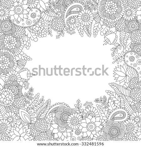 Hippie dessinés à la main vecteur illustration Photo stock © balabolka