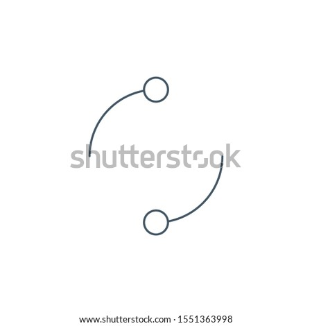 cyclic rotation linear icon, two circles instead of arrows recycling recurrence, renewal line symbol Stock photo © kyryloff
