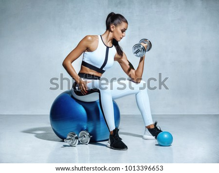 Motivation, sport and sportswear concept. Determined and confident handsome sportsman, raising hands Stock photo © benzoix