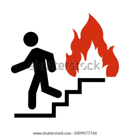 No Fire flame sign icon. Fire symbol. Stop fire. Escape from fire. Red prohibition sign. Stop symbol Stock photo © kyryloff