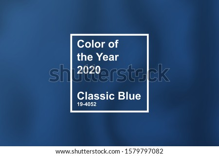 Color of the Year 2020, Classic Blue, trend colour palette sample swatches, Stock Vector illustratio Stock photo © kyryloff