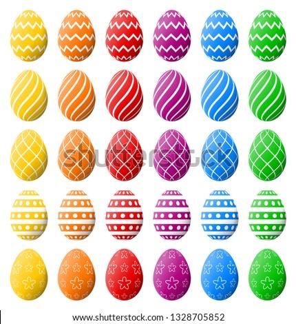Kleurrijk spectrum paaseieren Pasen vakantie hoog Stockfoto © ukasz_hampel