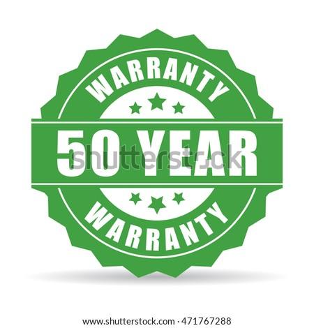 50 лет гарантия икона Label сертификата Сток-фото © kyryloff