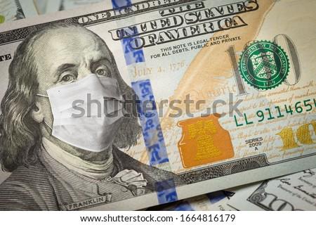 Een honderd dollar Bill medische gezicht Stockfoto © feverpitch