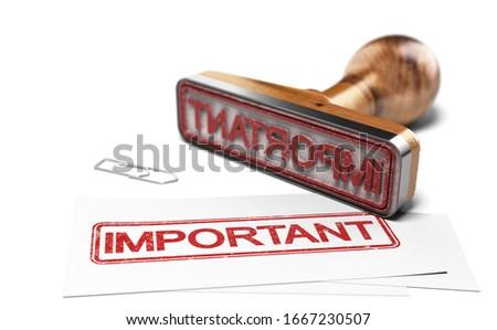 Mot importante imprimé carte de visite blanche Photo stock © olivier_le_moal