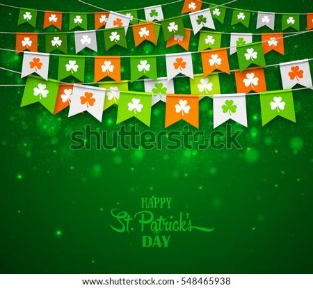 Dia projeto shamrock bandeira verde Foto stock © articular