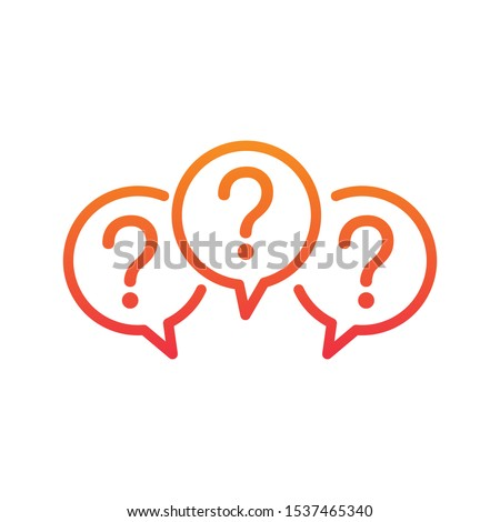 Chat bubble linear icon. communication message symbol. Stock Vector illustration isolated on white b Stock photo © kyryloff