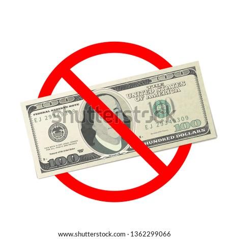 Um cem EUA dólares notas não Foto stock © evgeny89