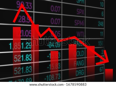 Coronavirus crashing stock market causing new financial crisis and bear market recession and economi Stock photo © Maridav