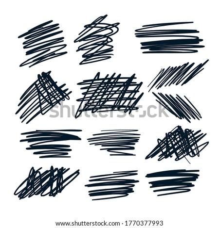 random pen sketch sribbles design set design Stock photo © SArts