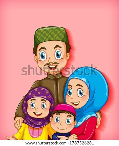 Moslim familie lid kleur helling Stockfoto © bluering