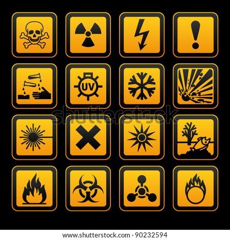 Physical hazard symbols stock photo hazard symbols