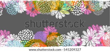Résumé floral lieu texte silhouette encre Photo stock © orson