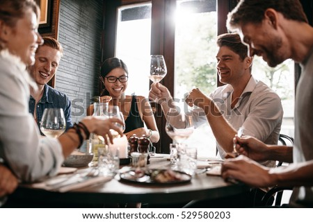 Man raising his glass for a toast Stock photo © photography33