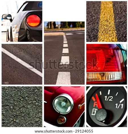 voiture · conduite · rapide · vue · noir - photo stock © pashabo