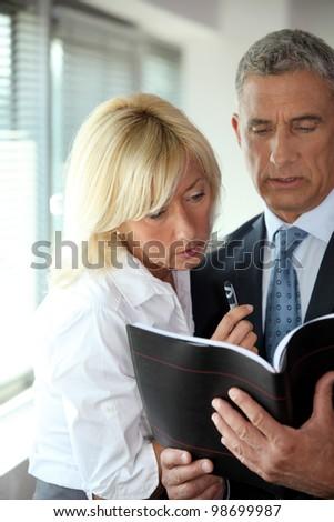 成熟した ビジネスマン コンサルティング 議題 ブロンド 秘書 ストックフォト © photography33