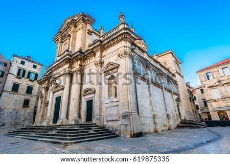 Kathedraal onderstelling maagd dubrovnik barok unesco Stockfoto © vlad_star