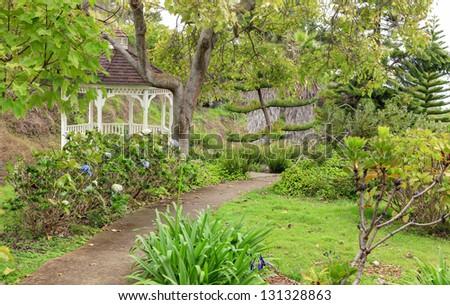 struttura · giardino · botanico · cielo · primavera · costruzione - foto d'archivio © iriana88w