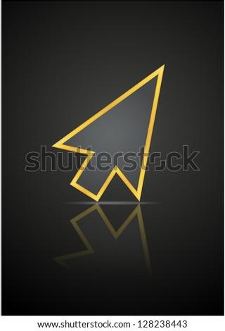 Vector flyer for youre website - basic cursor, little arrow with Stock photo © vitek38