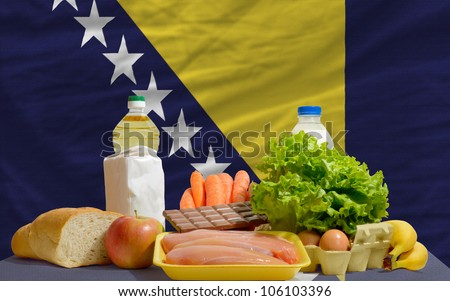 complete waved national flag of bosnia herzegovina for backgroun Stock photo © vepar5
