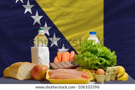 Complete Waved National Flag Of Bosnia Herzegovina For Backgroun Foto stock © vepar5