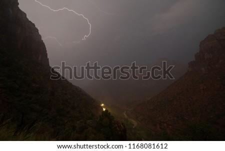 Céu nuvens chuva condução rodovia carros Foto stock © alex_grichenko